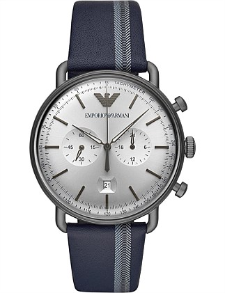Blue Chronograph Watch