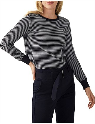 Fine Stripe Cotton Pullover