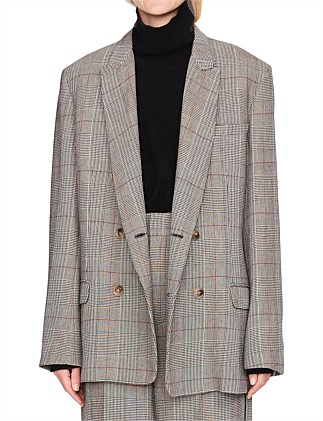 Viscose Check Tailored Jacket
