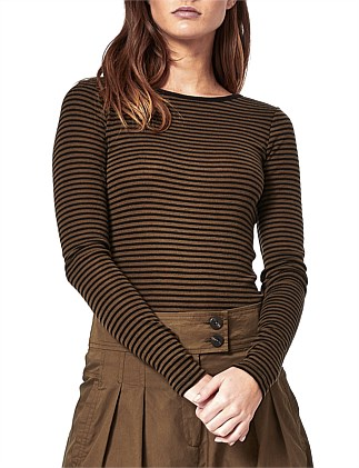 Morri Baby Stripe Wool Round Neck