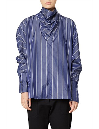Goldie Stripe Cowl Neck Shirt