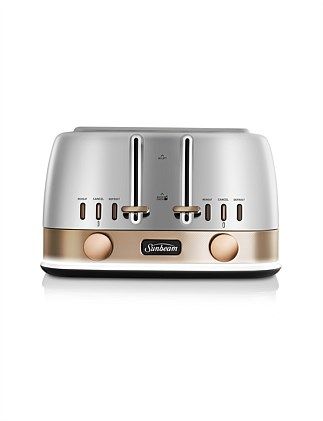 TA4440SG New York 4 Slice Toaster Silver Gold