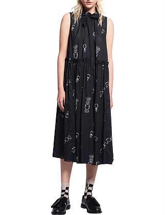 Queens Knight Cotton Voile Dead Draw Dress
