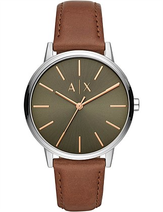 Brown Analogue Watch. Armani Exchange 71a5aed640af0