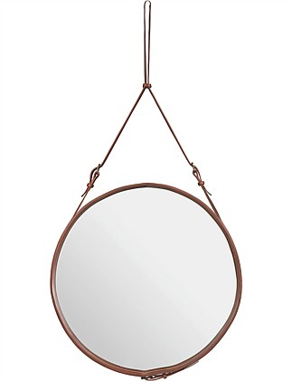 Adnet Circular Mirror Tan Large