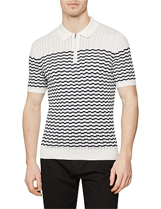 Mcandrew Ss Half Zip Stripe