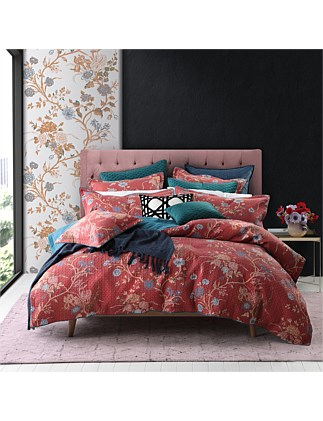 CARNATION QUILT COVER SET QUEEN BED