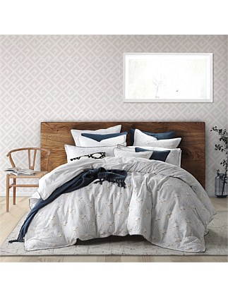 KABUKI LINEN QUILT COVER SET QUEEN BED