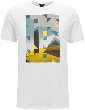 Pima-Cotton T-Shirt With Anni Albers-Inspired Artwork