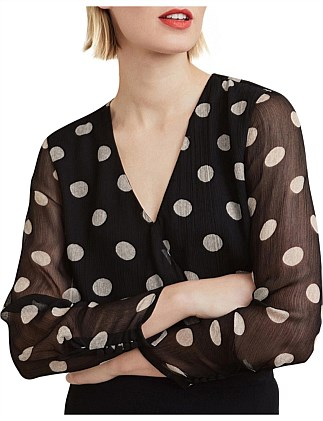 Wrap Spot Blouse