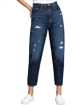 High Rise Tapered Rigid Jean