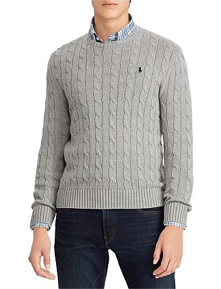 2f262614eebc Cable-Knit Cotton Sweater. Polo Ralph Lauren
