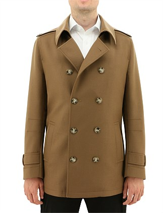 dfd0b3b9a5a HIGH NECK BUTTON OVERCOAT Special Offer