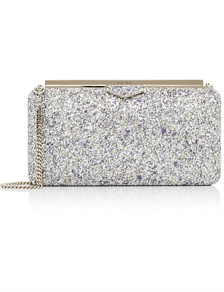 ELLIPSE DTZ PAINTED COSRSE GLITTER CLUTCH