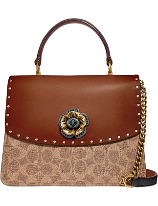 5b942184db PARKER TOP HANDLE IN SIGNATURE CANVAS WITH RIVETS. Coach