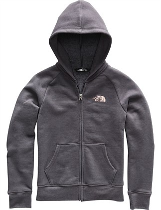 G Logo Full Zip Hoodie Periscope Grey (Girls 8-14 Years)