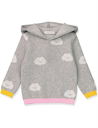Happy Cloud Hoodie (Baby Girls 0-2)