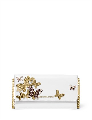 b5bba6cc Large Butterfly Embellished Convertible Chain Wallet. OLIVE; OPTIC WHITE. Michael  Kors