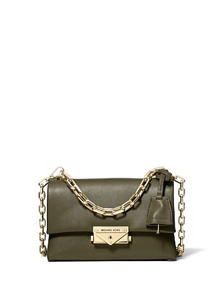 83900a2b23206 Cece Extra-Small Leather Crossbody. BLACK  OLIVE. Michael Kors