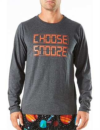 CHOOSE SNOOZE LONG SLEEVE SLEEP TEE