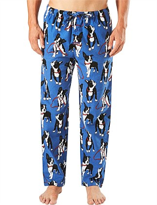 BOSTON PUPS PRINTED FLANNEL SLEEP PANT