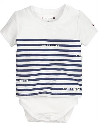 35663229 Baby Boy Tee Body S/S(0-3M - 1Y). Tommy Hilfiger