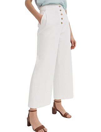 Button Up Wide Leg Pant