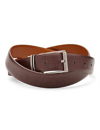 Montrel Reversible Leather Pin Buckle Belt