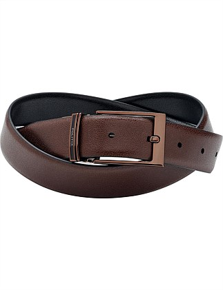 Leslie Reversible Leather Pin Buckle Belt