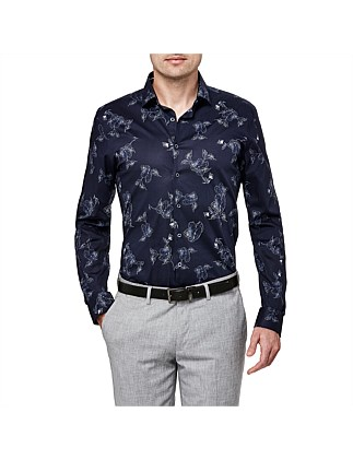 Curtiss Slim Stretch Fit Floral Shirt