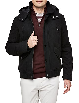 Terry Wool Blend Bomber Jacket