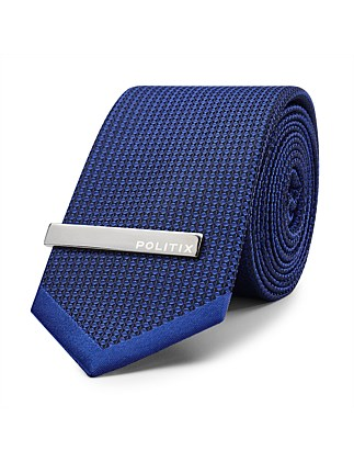Lucca Formal Tie With Tie Bar