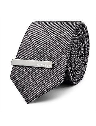 Lorent Pattern Tie With Tie Bar