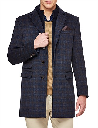 Cavendish Wool Blend Trench Jacket