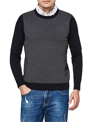 Kenn Cotton Blend Crew Knit