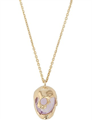 Skull Necklace, Lilac