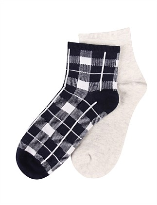 e5112ac2d Checked Ankle Sock 2Pk Special Offer. Ambra
