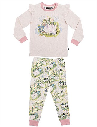 Bunny Placement Long Sleeve PJ Set