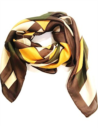 Retro small square polyester scarf