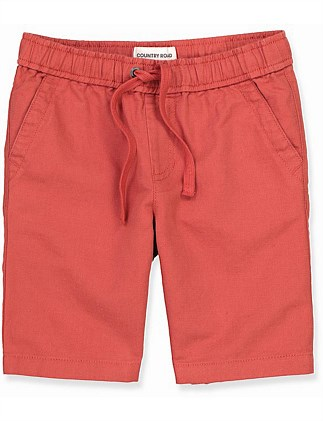 Drawcord Linen Short (Boys 2-10)