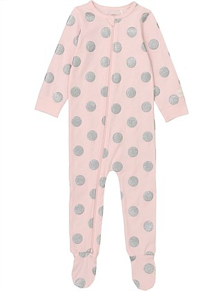 Glitter Spot Jumpsuit (Baby Girls 0-2)