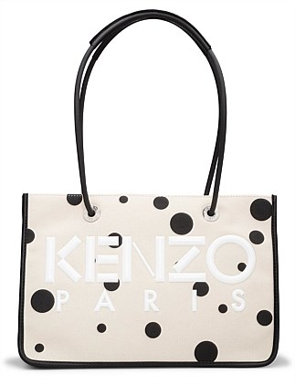 LOGO TOTE WITH POLKA DOTS