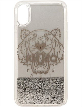 IPHONE X TIGER HEAD GLITTER