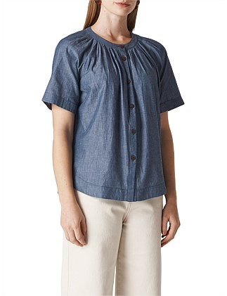 PAULETH CHAMBRAY TOP