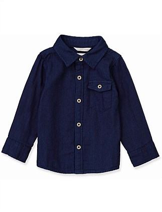 Indigo Double Faced Shirt (Baby Boys 0-2)