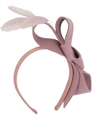 Dusty Pink felt bow fascinator