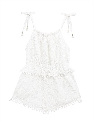 Allia Scallop Tie Playsuit