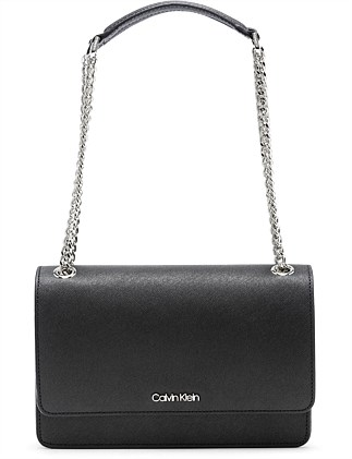 CHAIN LINK BAG SHOULDER BAG BLACK