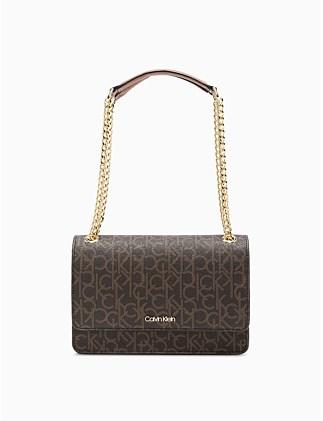 858fe3710b31 CHAIN LINK BAG SHOULDER BAG BRN KHK/LUGG On Sale. Calvin Klein