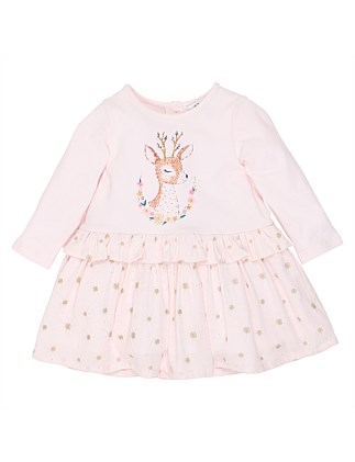 Tabitha Deer Dress(3M-24M)